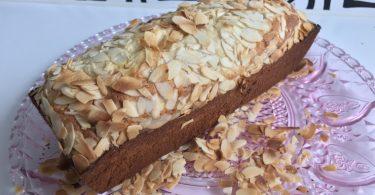 recette de cake pate d'amande, fleur d'oranger et citron