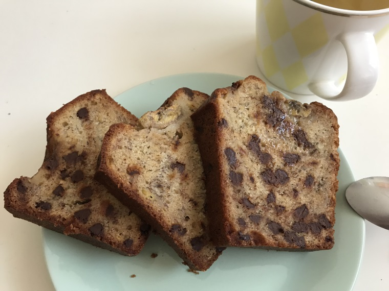 recette facile banana bread chocolat