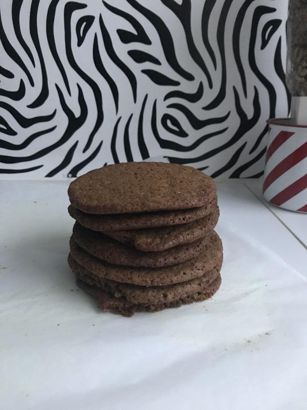 biscuit au sirop de Liège empilé