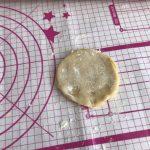 disque de pâte sablée crue