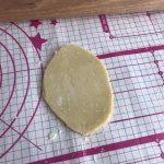 pâte sablée de forme ovale