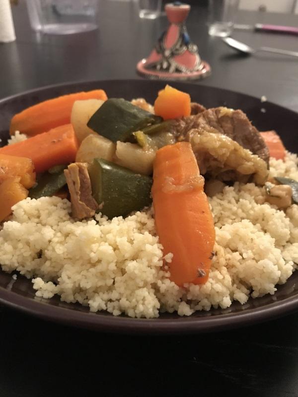 assiette de couscous complet