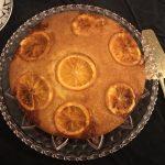 présentation gâteau moelleux à l'orange